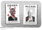 Cartoonist Clay Bennett  Clay Bennett's Editorial Cartoons 2008-08-16 John McCain