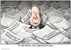 Cartoonist Clay Bennett  Clay Bennett's Editorial Cartoons 2008-09-10 John McCain