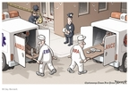Cartoonist Clay Bennett  Clay Bennett's Editorial Cartoons 2009-04-19 scene