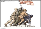Cartoonist Clay Bennett  Clay Bennett's Editorial Cartoons 2009-05-25 World War II Memorial