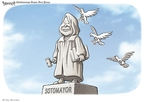 Cartoonist Clay Bennett  Clay Bennett's Editorial Cartoons 2009-05-31 Supreme Court