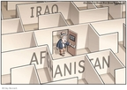 Cartoonist Clay Bennett  Clay Bennett's Editorial Cartoons 2009-08-26 Afghanistan