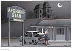 Cartoonist Clay Bennett  Clay Bennett's Editorial Cartoons 2009-11-01 Afghanistan