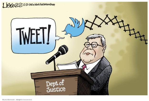 Tweet! Dept. of Justice.