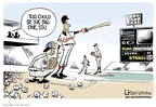 Cartoonist Lisa Benson  Lisa Benson's Editorial Cartoons 2009-03-13 baseball