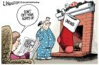 Cartoonist Lisa Benson  Lisa Benson's Editorial Cartoons 2013-12-21 Christmas stocking