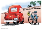 Cartoonist Lisa Benson  Lisa Benson's Editorial Cartoons 2008-08-19 bicycle