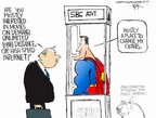 Cartoonist Chip Bok  Chip Bok's Editorial Cartoons 2005-02-23 superhero movie