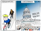 Cartoonist Chip Bok  Chip Bok's Editorial Cartoons 2005-05-13 bicycle