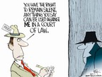 Cartoonist Chip Bok  Chip Bok's Editorial Cartoons 2005-07-05 testify