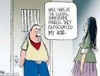 Cartoonist Chip Bok  Chip Bok's Editorial Cartoons 2006-05-02 immigration reform