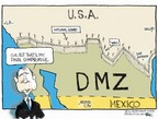 Cartoonist Chip Bok  Chip Bok's Editorial Cartoons 2006-05-17 border fence