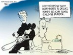 Cartoonist Chip Bok  Chip Bok's Editorial Cartoons 2007-04-26 minimum tax