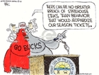 Cartoonist Chip Bok  Chip Bok's Editorial Cartoons 2008-07-15 college sports