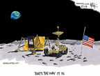 Cartoonist Chip Bok  Chip Bok's Editorial Cartoons 2009-07-20 flag