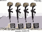 Cartoonist Chip Bok  Chip Bok's Editorial Cartoons 2009-09-12 military casualty