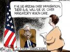 Cartoonist Chip Bok  Chip Bok's Editorial Cartoons 2010-04-30 immigration reform