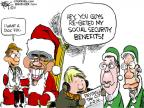 Cartoonist Chip Bok  Chip Bok's Editorial Cartoons 2011-12-21 Christmas gift