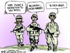 Cartoonist Chip Bok  Chip Bok's Editorial Cartoons 2013-02-04 military
