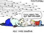 Cartoonist Chip Bok  Chip Bok's Editorial Cartoons 2013-03-18 gun violence