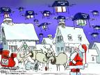 Cartoonist Chip Bok  Chip Bok's Editorial Cartoons 2013-12-02 Christmas gift