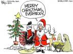 Cartoonist Chip Bok  Chip Bok's Editorial Cartoons 2013-12-24 Christmas stocking
