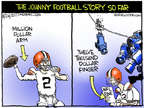 Cartoonist Chip Bok  Chip Bok's Editorial Cartoons 2014-08-23 football penalty