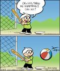 Cartoonist Jay Stephens Bob Weber, Jr.  Oh, Brother! 2011-06-06 baseball batter