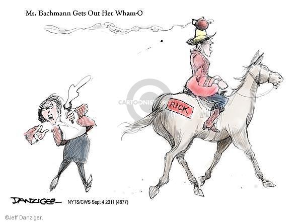 Ms. Bachmann Gets Out Her Wham-O. Rick.