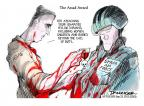 Cartoonist Jeff Danziger  Jeff Danziger's Editorial Cartoons 2012-09-23 medal