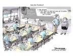Cartoonist Jeff Danziger  Jeff Danziger's Editorial Cartoons 2013-04-03 teacher