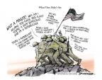 Cartoonist Jeff Danziger  Jeff Danziger's Editorial Cartoons 2013-10-03 flag