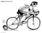 Cartoonist John Deering  John Deering's Editorial Cartoons 2009-02-05 bicycle