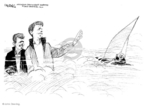 Cartoonist John Deering  John Deering's Editorial Cartoons 2009-08-27 John Kennedy
