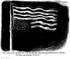Cartoonist John Deering  John Deering's Editorial Cartoons 2010-01-09 upside down flag