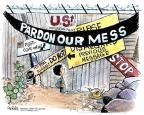 Cartoonist John Deering  John Deering's Editorial Cartoons 2013-01-30 border fence