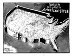 Cartoonist John Deering  John Deering's Editorial Cartoons 2013-04-24 border fence
