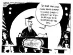 Cartoonist John Deering  John Deering's Editorial Cartoons 2013-06-09 graduation