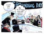 Cartoonist John Deering  John Deering's Editorial Cartoons 2014-02-01 snow day