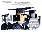Cartoonist John Deering  John Deering's Editorial Cartoons 2014-05-29 graduation
