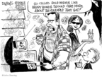 Cartoonist John Deering  John Deering's Editorial Cartoons 2007-08-13 baseball