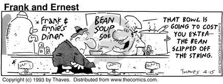 That bowl is going to cost you extra - the bean slipped of the string.