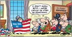 Cartoonist Bob Thaves Tom Thaves  Frank and Ernest 2004-07-04 American flag
