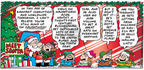 Cartoonist Bob Thaves Tom Thaves  Frank and Ernest 2005-12-18 Christmas marketing