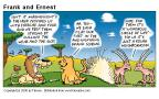 Cartoonist Bob Thaves Tom Thaves  Frank and Ernest 2000-07-23 African animal