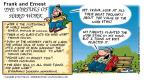 Cartoonist Bob Thaves Tom Thaves  Frank and Ernest 2001-02-18 instant