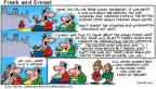 Cartoonist Bob Thaves Tom Thaves  Frank and Ernest 2001-11-04 college sports