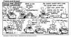Cartoonist Bob Thaves Tom Thaves  Frank and Ernest 1993-08-22 cafe