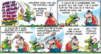 Cartoonist Bob Thaves Tom Thaves  Frank and Ernest 2008-02-03 football receiver