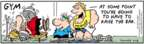 Cartoonist Bob Thaves Tom Thaves  Frank and Ernest 2008-04-18 muscle